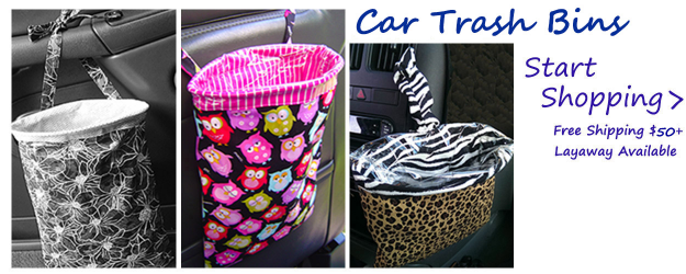 Fabric Car Trash Bags/Car Trash Bins/Car Organizer