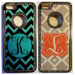 initial bling phone cases