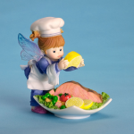 Girl Fairy with Seafood Plate
