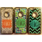 monogrammed phone cases with bling bling