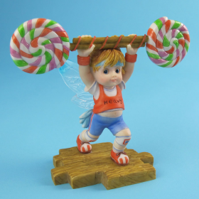 Girl Fairy Lifting Lollipop Weight