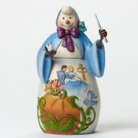 Jim Shore Disney Traditions Snowman-Cinderella Dancing with Prince Scene