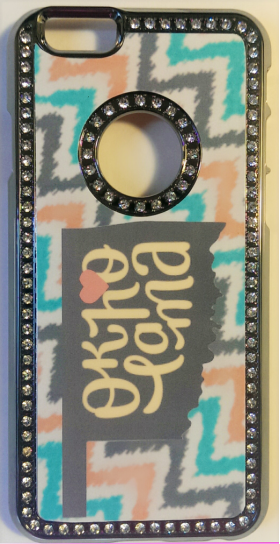 Oklahoma State phone cases with bling bling